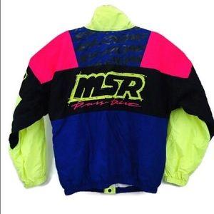VTG MSR Malcom Smith Racing Jacket Neon Motocross